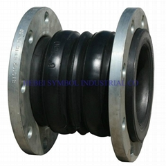 Double ball galvanized rubber expansion joint