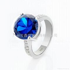 韩版首饰批发 925纯银戒指 珠宝设计