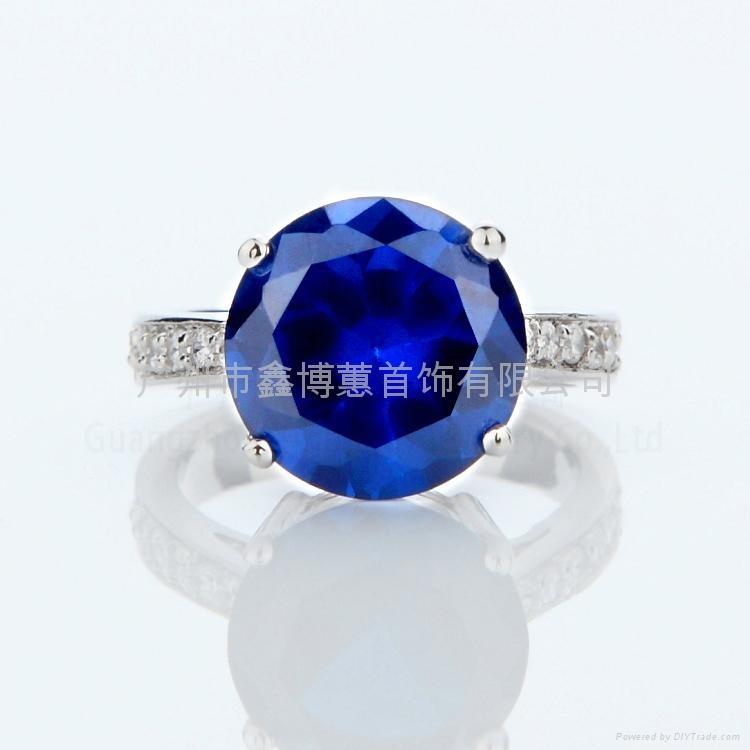 韩版首饰批发 925纯银戒指 珠宝设计 3