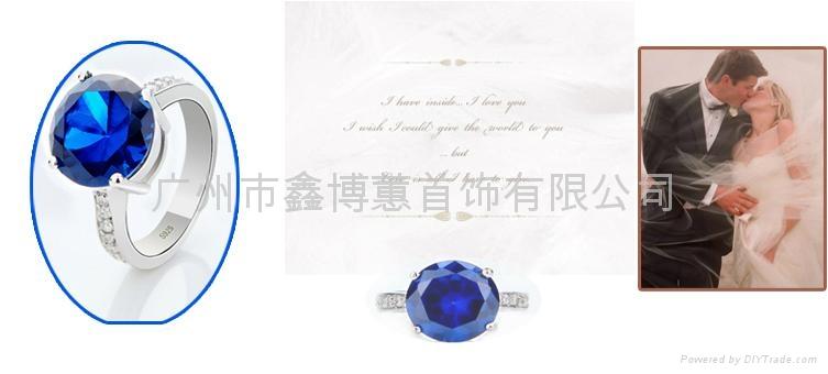 韩版首饰批发 925纯银戒指 珠宝设计 4