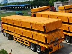 3 Axle 40ton removable Side box price of truck trailer
