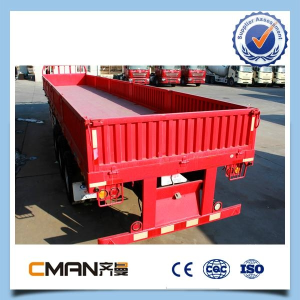 3 Axle 40ton removable Side box price of truck trailer  5
