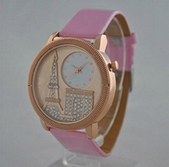 Pink Leather Girls Watches P1130
