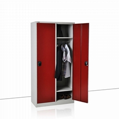 2 open door steel locker ---Steel locker FL-0072