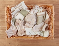 organic natural color cotton baby sock