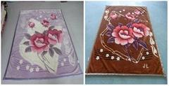 100%涤纶长短绒毯-超柔毛毯床上用品