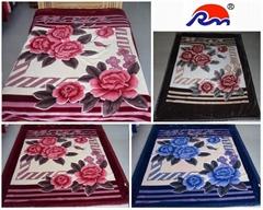 拉舍尔毛毯(单双层 印花 剪花 压花)