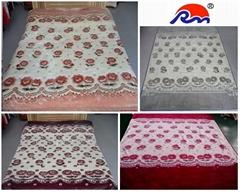 Acrylic Mink Blanket 100% Polyester Weft Knitting