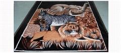 涤纶拉舍尔毛毯(花、卡通图案)
