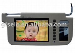 7inch DPF sun visor monitor with USB/SD