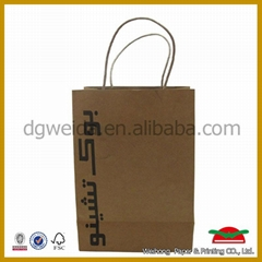 Brown kraft paper bag with your logo
