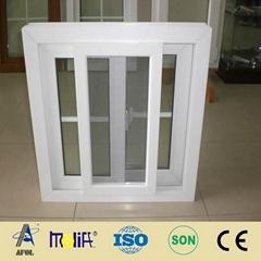 PVC Sliding window with double glass.