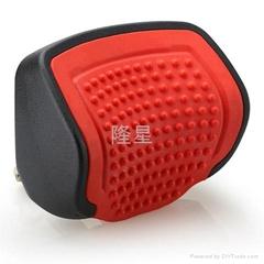 外黑内红PU推拉式汽车颈枕带按摩