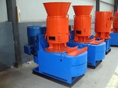 CE approved SKJ450 flat die wood pellet mill