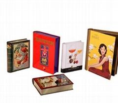 book shape chocolate tin box