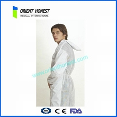 Oil Resistant Protective Disposable Tyvek Coveralls White