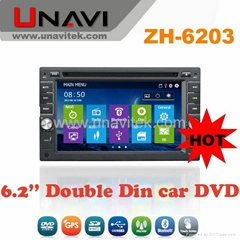 UNAVI Double Din 6.2 inch Car DVD Player with GPS Navigation