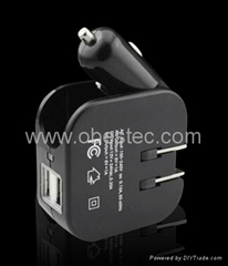 2 in 1 AC&DC USB CAR charger