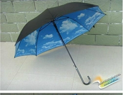Blue Sky White Cloud Stick Umbrella