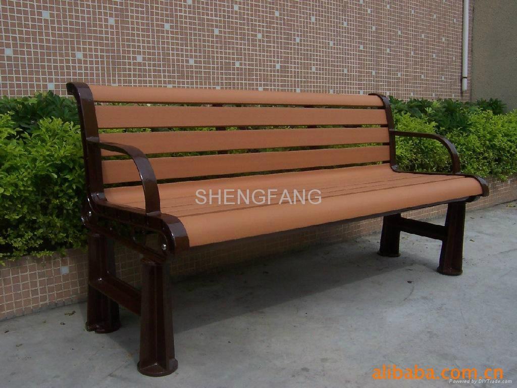 最新防腐木公园休闲椅户外长椅