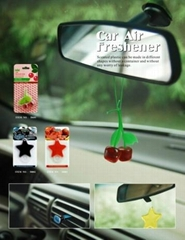 Cherry Shape Plastic Gel Hanging Car Air Freshener