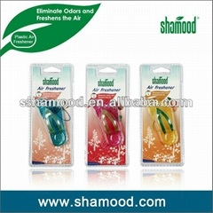 Flip-Flop Shape Plastic Gel Hanging Car Air Freshener