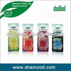 Shamood Brand 4PCS Pack Scented Plastic Car Vent Clip Air Freshener