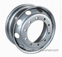 22.5x8.25 tubeless steel wheel DOT/TS16949
