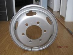 Steel wheel rim and disk 6.00G-16