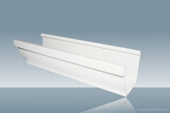 浙江排水系統 多彩檐槽 彩色圓管 塑料天溝 樹脂天溝