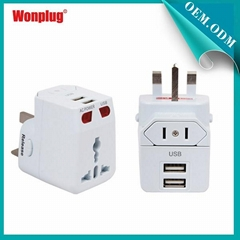 2014 newest usb travel adapter approved CE&ROHS