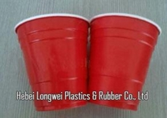 Promotion 9oz double color plastic red solo cups