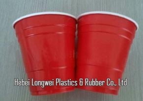 Promotion 9oz double color plastic red solo cups   1
