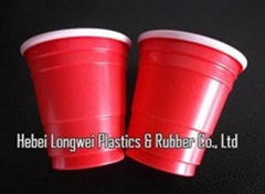 Promotion disposable cute plastic 2oz beer bong cups