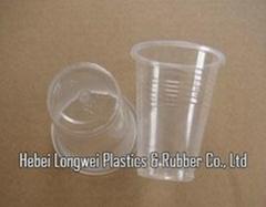 transparent 6oz(180ml) thin disposable PP plastic cup