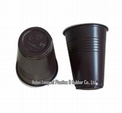 GH-C0005-180ML brown disposable plastic coffee cup