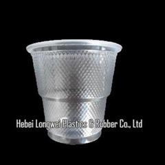 Roll rim airline plastic cup