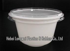 230ml white color disposable plastic ice cream yogurt cup   1