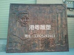 孔子浮雕壁画雕塑