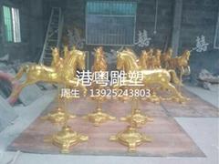 玻璃鋼馬工藝品雕塑