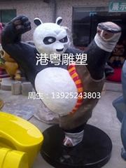 功夫熊猫卡通雕塑
