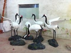 動物仙鶴雕塑