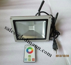 20W RF RGB LED floodlight in the operation of wireless wave 433MHz