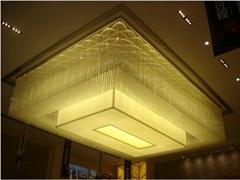 大廳LED水晶吸頂燈