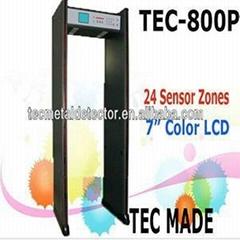 24 Zones door frame metal detector TEC-800P