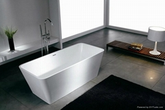 Solid surface artificial stone bathtub BS-S03