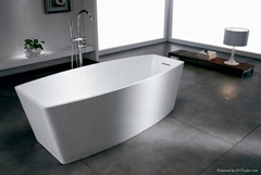 Solid surface artificial stone bathtub BS-S04