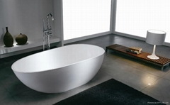 Solid surface artificial stone bathtub BS-S06