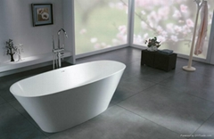 Solid surface artificial stone bathtub BS-S09