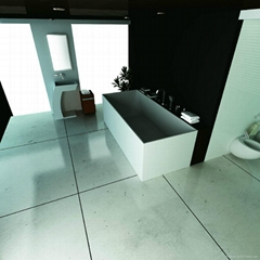 Solid surface artificial stone bathtub BS-S14